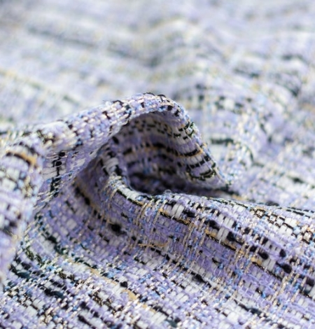 Lilac with blue shade with multicolor tweed fabric. Photo 2