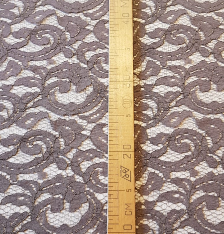 Brown lace fabric. Photo 10