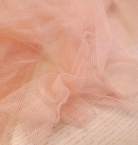 Darkish peachy pink silk tulle fabric. Photo 8