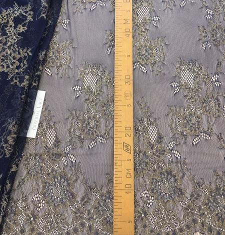 Dark blue lace fabric. Photo 10