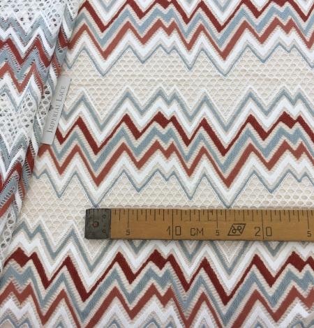 Multicolored lace fabric. Photo 6