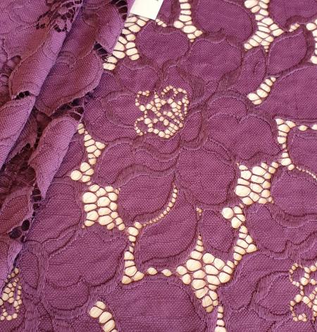 Plum lilac lace fabric. Photo 2