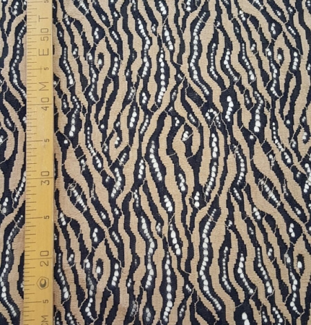 Black with Beige Lace Fabric. Photo 3