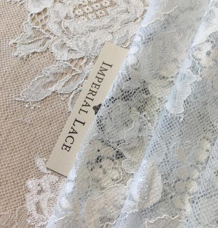 Light blue lace fabric. Photo 6