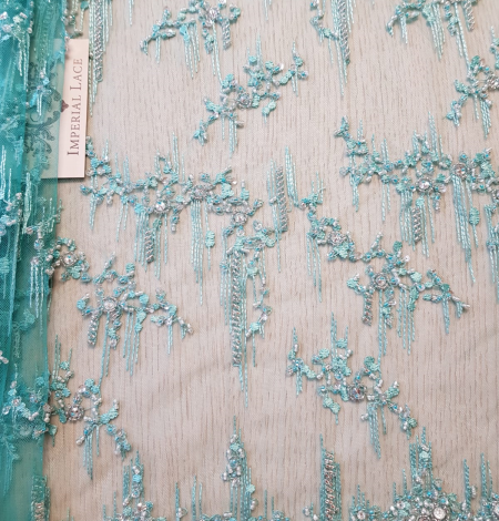 Sea green beaded lace. Photo 2