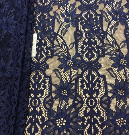 Blue lace fabric. Photo 2