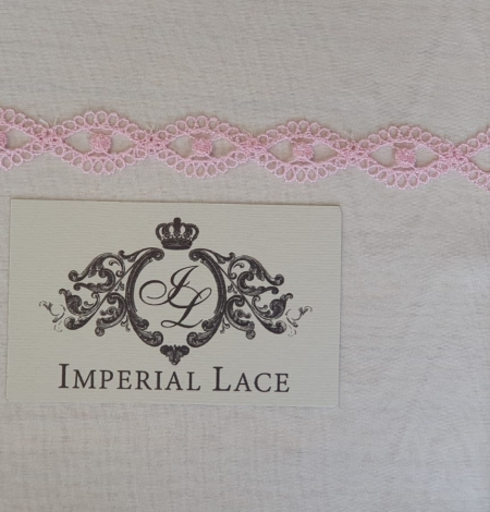 Pink chantilly lace trimming. Photo 5