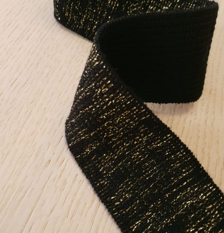 Black with gold rubber ribbon application. Photo 6