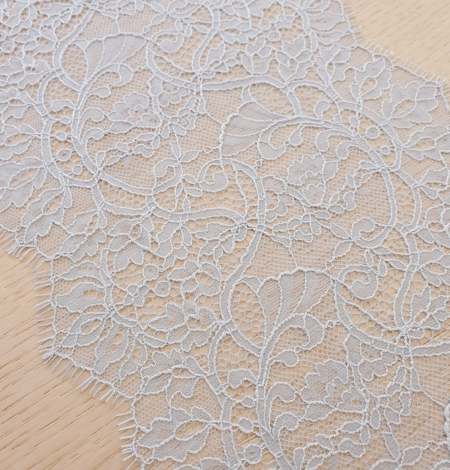 Light blue floral pattern chantilly lace trimming. Photo 6