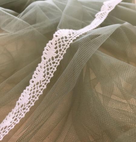 Soft khaki tulle fabric. Photo 4