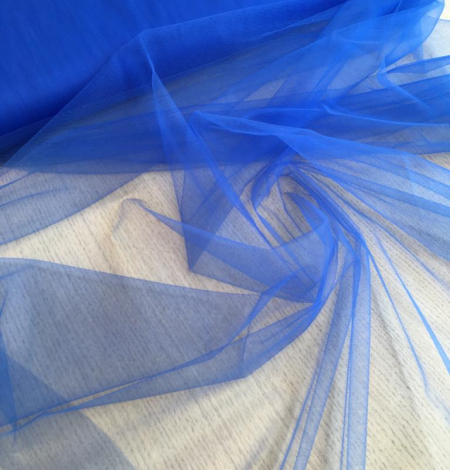 Blue tulle fabric. Photo 3