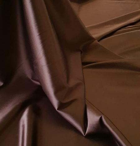 Chocolate brown satin with elastane. Photo 4