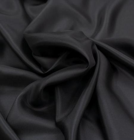 Black grey silk lining fabric . Photo 6