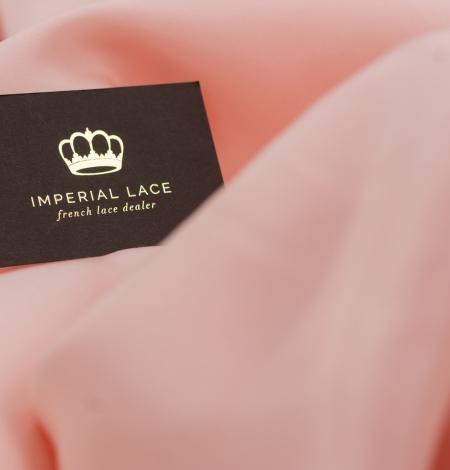 Peach color thick silk fabric. Photo 3