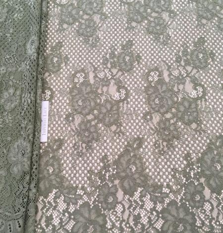 Khaki lace fabric. Photo 1
