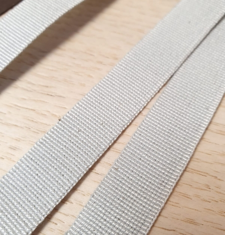 Grey grosgrain viscose ribbon. Photo 2
