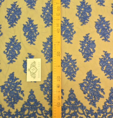 Blue lace Fabric. Photo 4