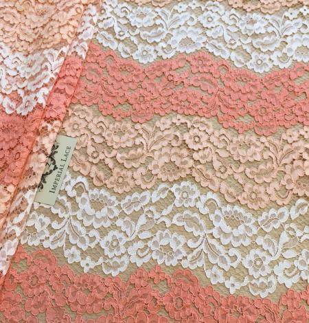 Multicolor lace fabric. Photo 4