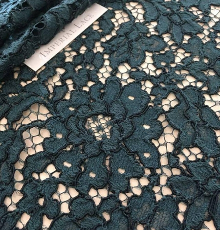 Green Lace Fabric. Photo 1