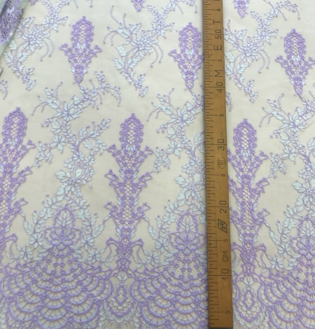 Multicolored lace fabric. Photo 8