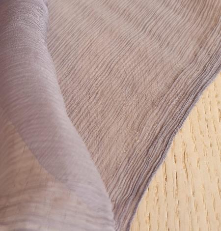 Lilac grey silk chiffon fabric. Photo 3