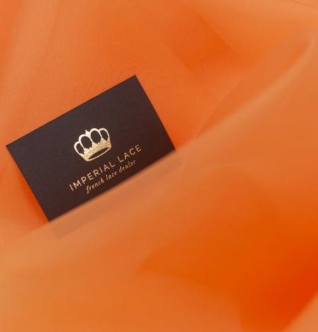 Orange silk organza fabric. Photo 6