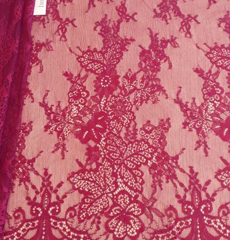 Dark red lace fabric. Photo 6