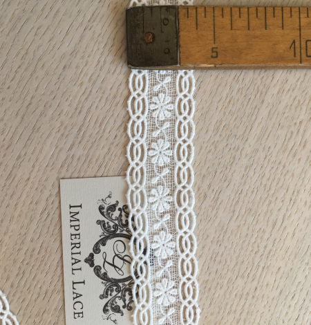 Ivory cotton lace trimming. Photo 10
