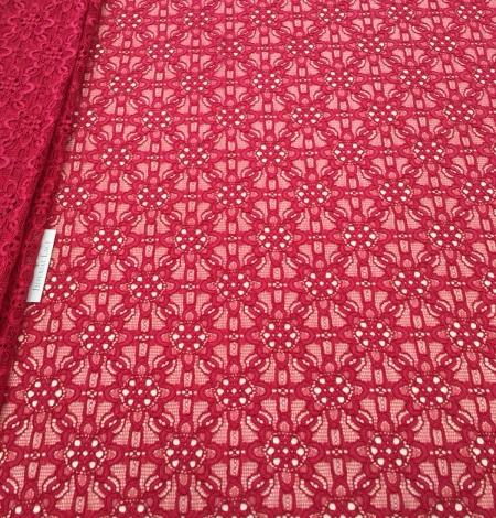 Pink lace fabric. Photo 6