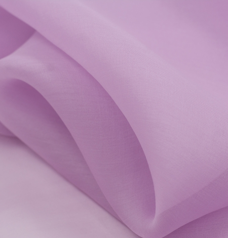 Light lavander lilac silk organza fabric. Photo 3