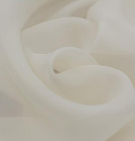 Ivory silk satin organza fabric . Photo 3