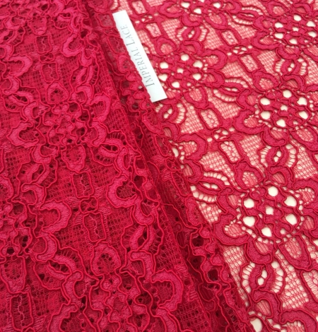 Pink lace fabric. Photo 3