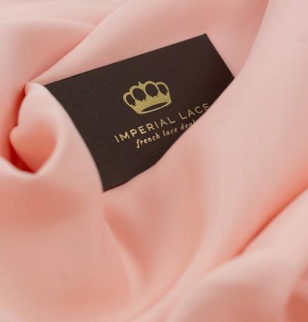 Peach color thick silk fabric. Photo 6