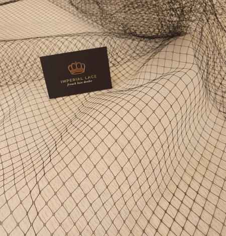Black hat net tulle fabric. Photo 1