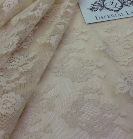 Nude lace fabric. Photo 4