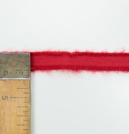 Red lana wool ribbon. Photo 4