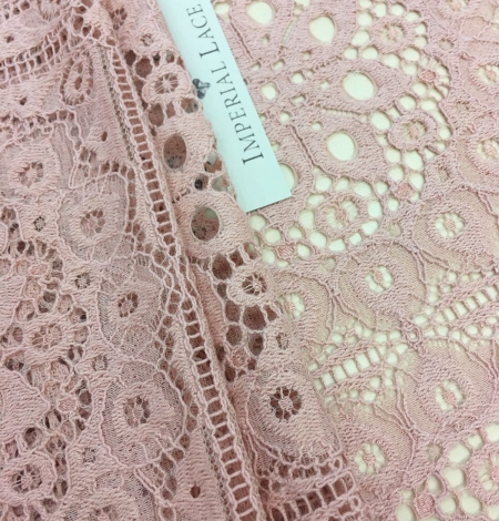 Old rose lace fabric, French Lace. Photo 1