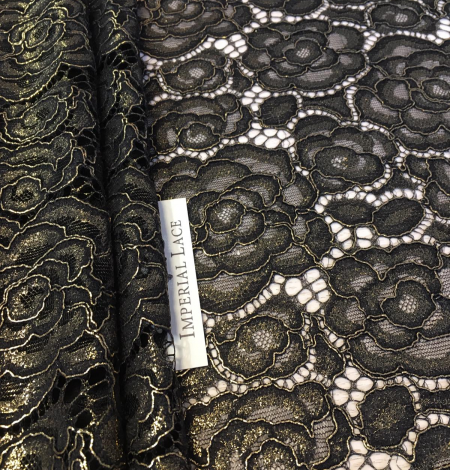 Black with gold lace fabric. Photo 4