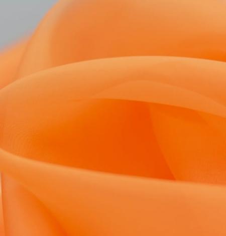 Orange silk organza fabric. Photo 8