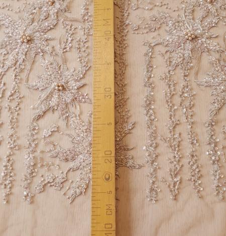 Multicolor beaded lace fabric. Photo 10