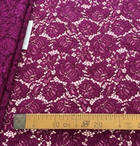 Violet lace fabric. Photo 5