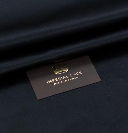 Black silk duchess fabric. Photo 1