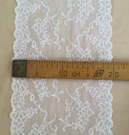 White elastic lingerie lace trim. Photo 5