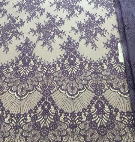 Lilac lace fabric. Photo 2