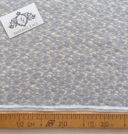 Grey Sophie Hallette lace fabric. Photo 4
