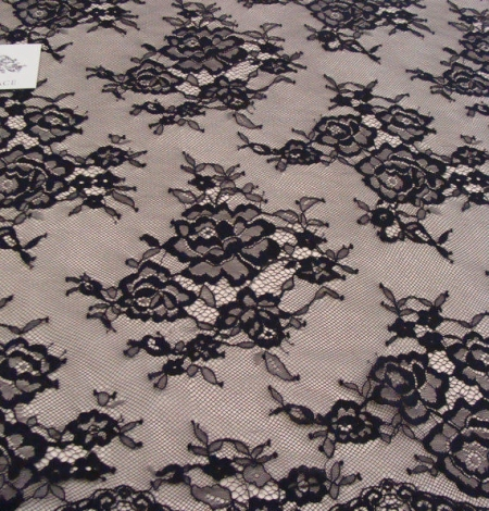 Black lace fabric Chantilly Lace. Photo 2