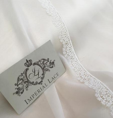 Light ivory silk chiffon fabric. Photo 3