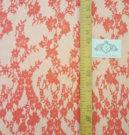 Orange Bloom lace fabric. Photo 3