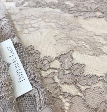 Dark ecru lace fabric. Photo 5