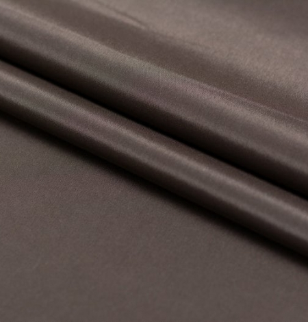 Brown viscose with elastane lining fabric . Photo 6